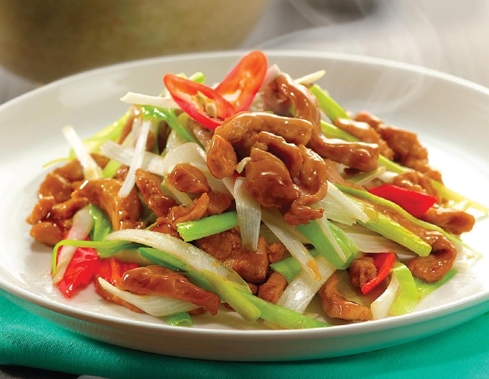 Recipe Stir Fried Pork with Green Onion