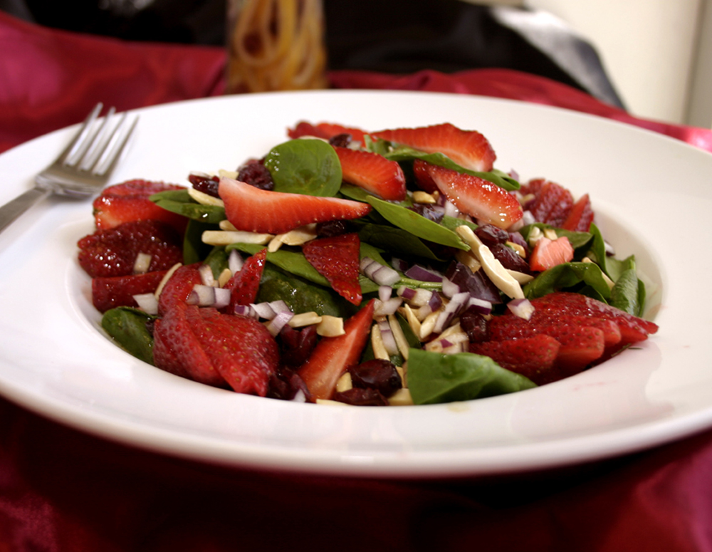 Recipe Strawberry Cucumber Apple and Chicken Salad with Lee Kum Kee Premium Soy Sauce