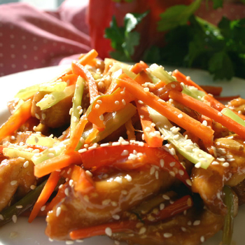 Recipe String Vegetables with Sesame Chicken S