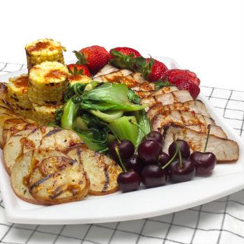 Recipe Summer Pork Chop and Grilled Vegetable Platter