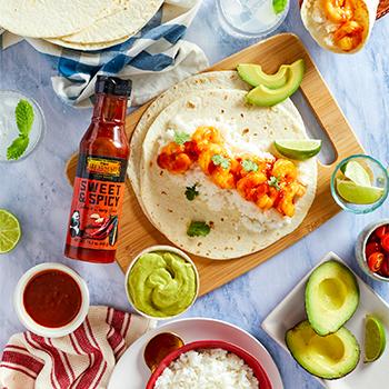 Recipe Sweet  Spicy Shrimp Burritos S