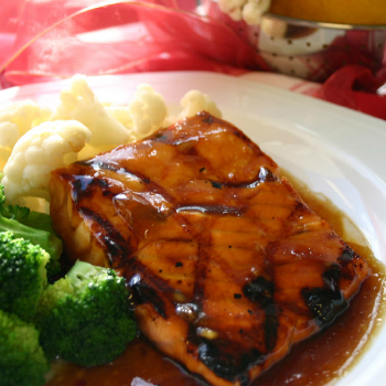 Recipe Sweet Ginger Salmon with Plum Sauce S
