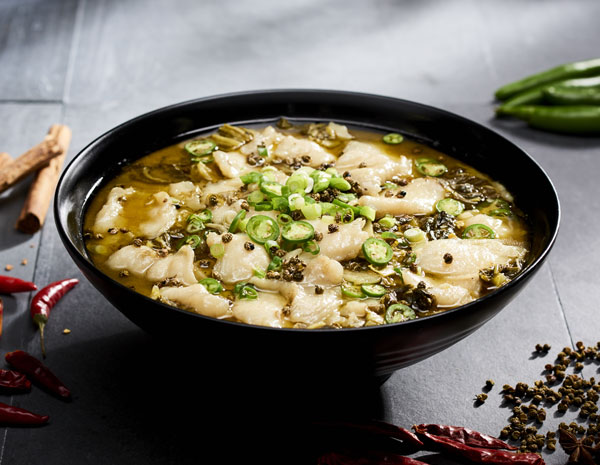 Recipe Szechuan Style Fish with Pickled Mustard Greens