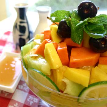 Recipe Tropical Fruit Mix with Plum Sauce S