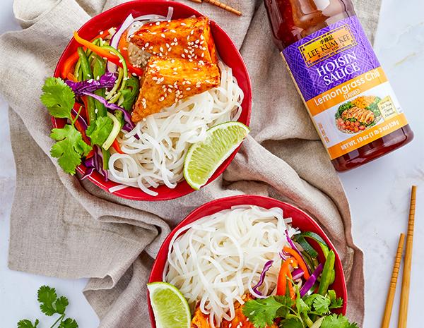 Recipe Vietnamese Noodle Bowl with Lemongrass Tofu