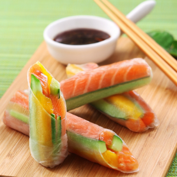 Recipe Vietnamese Salmon-and-Mango Srping Rolls S