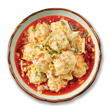 Recipe Wontons with Hot and Spicy Sauce S