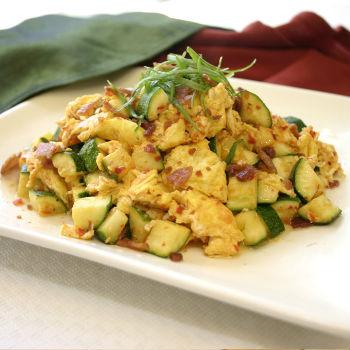 Recipe Zucchini Scrambled Eggs and Bacon S