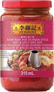 Base de soupe pour fondue chinoise piquante et épicée du type sichuan 315 mL, bocal