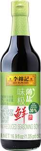 Sodium Reduced Seasoning Soy Sauce, 16.9 fl oz (1.05pt) 500 mL, Bottle