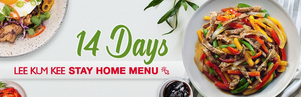 Stay Home 14 Days Menu banner