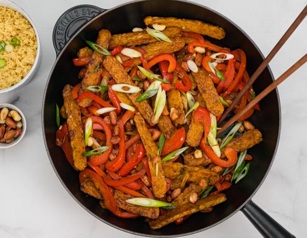 Vegan Kung Pao Tempeh