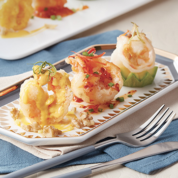 Gold Award Prawns with Three Flavours