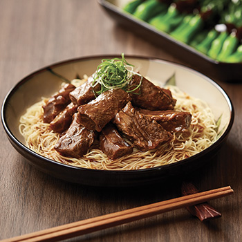 牛肩バラ肉の煮込み餡かけ卵麺