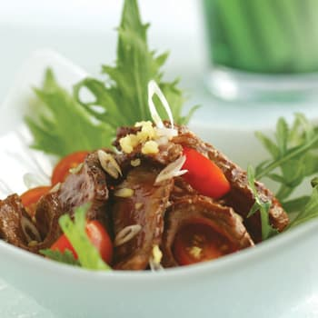 Teriyaki Beef with Cherry Tomatoes