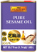 Pure Sesame Oil 55.7 fl oz (1.65 L) Tin Can