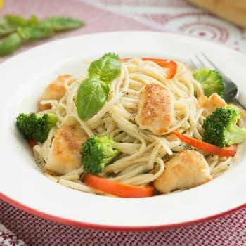 Recipe Chicken with Basil Spaghetti S