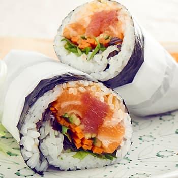 Recipe Poke Rice Burrito poke seaweed wraps S
