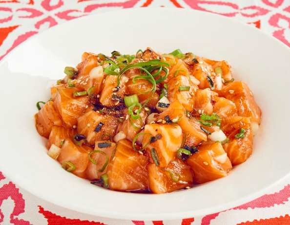 recipe salmon poke with oyster flavored sauce