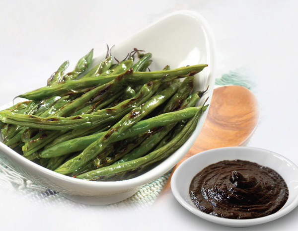Asian Blistered Green Beans with Black Bean Sauce