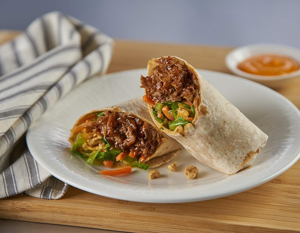 Recipe Asian Pulled Pork Wrap