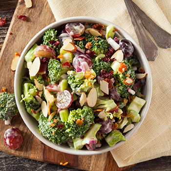 Recipe Broccoli and Grape Roasted Sesame Salad S