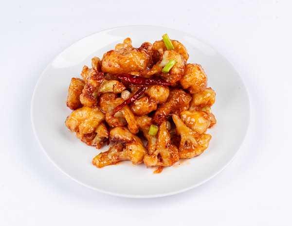 Recipe Crispy Fried Cauliflower with Orange Sauce