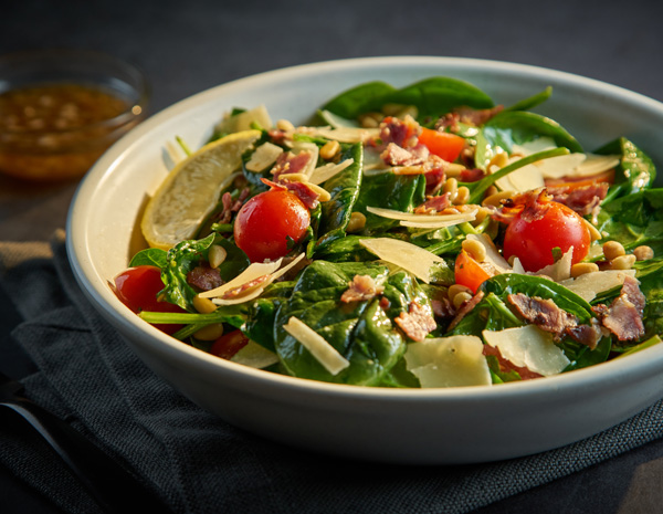 Recipe Warm Spinach Salad